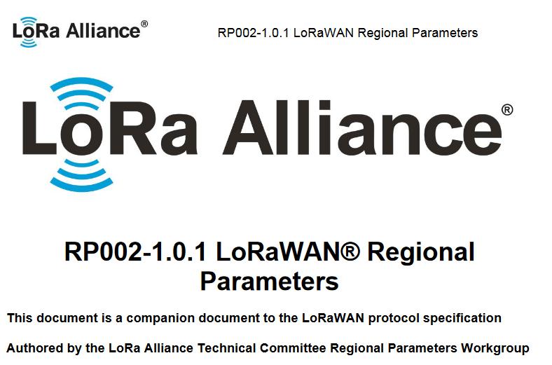 Opis parametrów LoRa orazLoRaWAN dla różnych rejonów geograficznych