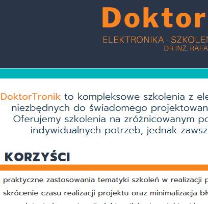 DoktorTronik wpigułce – jednostronnicowe podsumowanie