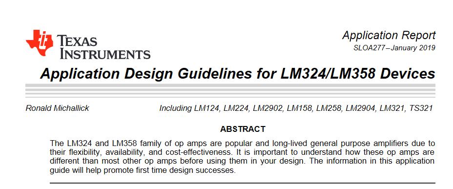 LM358 – nota aplikacyjna