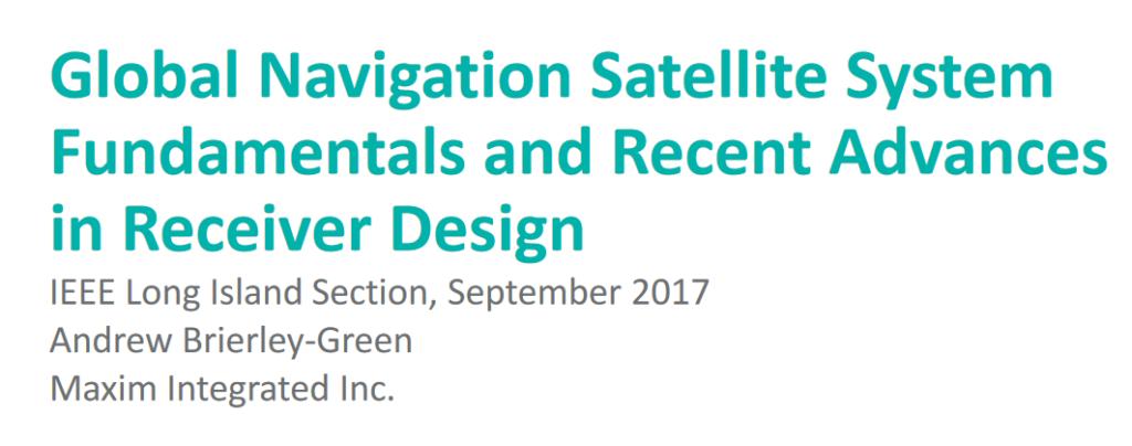 Systemy GNSS – podstawy, widmo, modulacje itp.