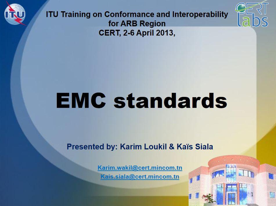 Podstawy EMC, odporność iemisja, poziomy testowe orazlimity.